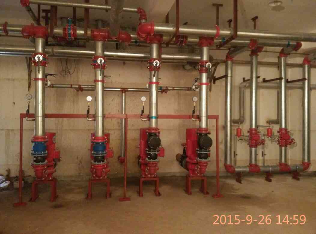 刚刚做的消防水泵房