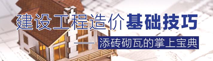 建设工程造价基础技巧――添砖砌瓦的掌上宝典