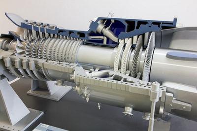 【图赏】世界最大的燃气轮机,西门子sgt5-8000h