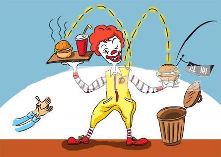 麦当劳食物卡通简笔画