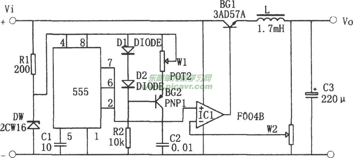 自激式开关稳压电源电路图