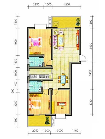 一般来说,板式多层或小高层住宅的进深在10.5至12米之间比较理想.
