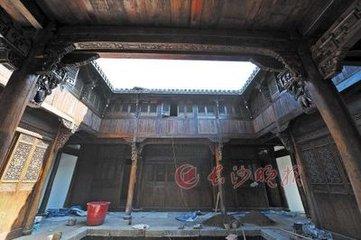 古代亭子工匠榫卯结构绘画图