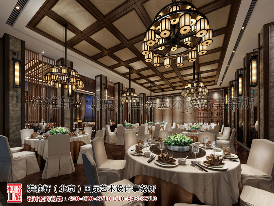 重庆酒店餐厅新中式装修风格——低沉奢华,纸醉金迷