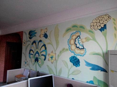 茗卡通手绘墙