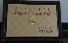 赤峰市五一劳动奖状
