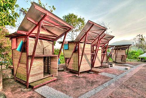 竹结构建筑空间