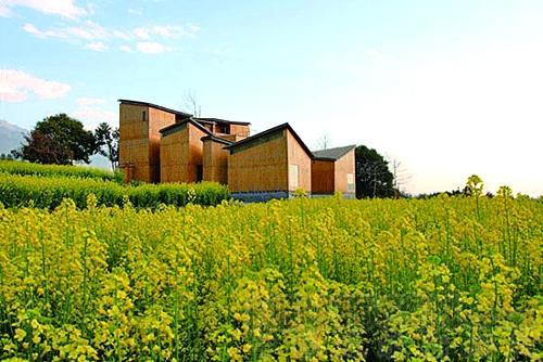 碳条建筑风景写生