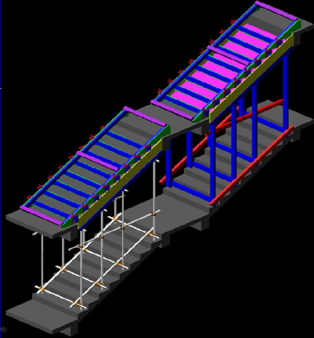 楼梯模板施工顺序三维图解-施工学习资料的文章