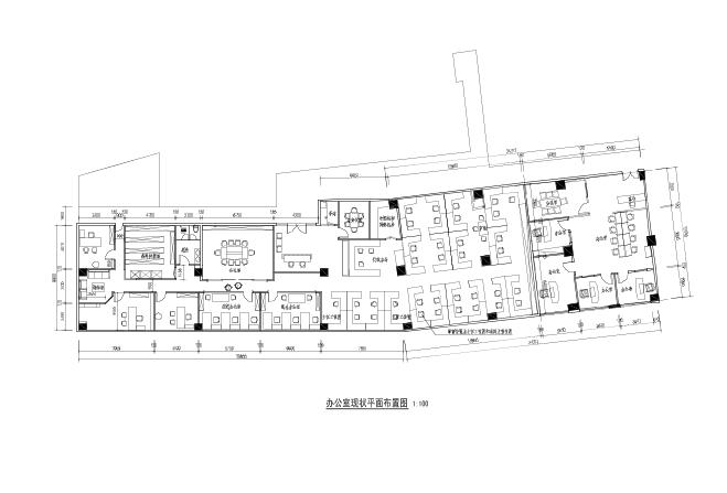 办公室平面图-房屋底层平面图 房屋底层平面